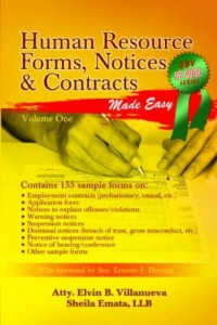 Human Resources Notices, Forms and Contracts (Philippines)