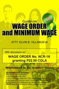 Wage Order and Minimum Wage by Atty. Elvin Villanueva